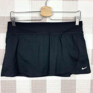 Nike Black Mini Tennis Skirt Zip Pocket Sz Medium